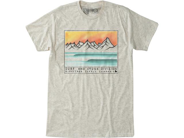 Hippy Tree Ridgewater T-shirt Homme, heather natural